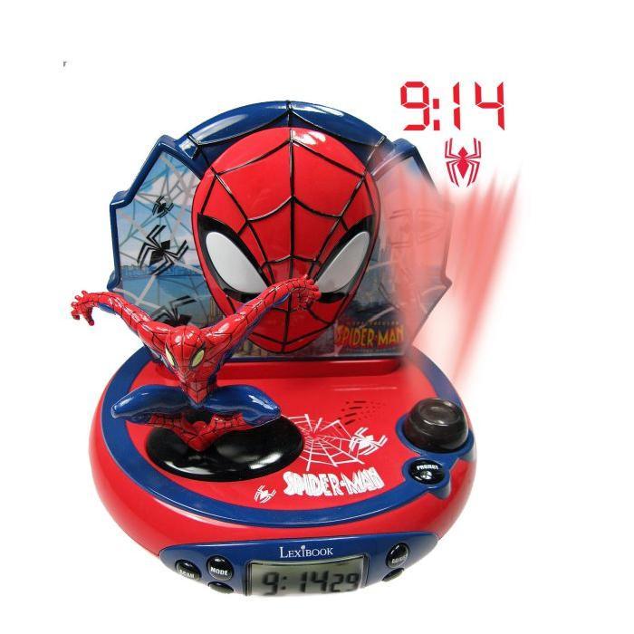 Lexibook Radio Réveil Projecteur Spider Man Appuie sur le bouton