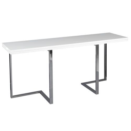 Alinéa Elau Console extensible en table de repas L160cm Blanc 160