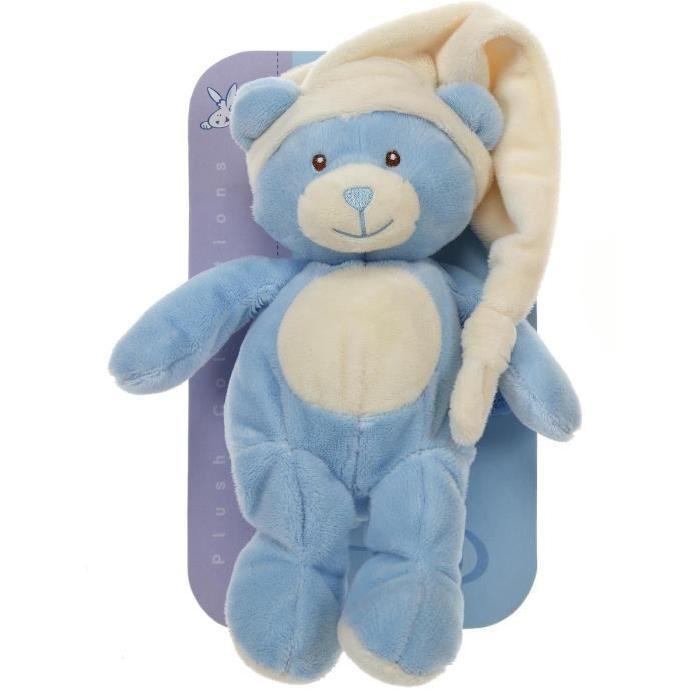 Doudou N?ud 26 cm Ours Bleu Bleu Achat / Vente doudou GIPSY Doudou