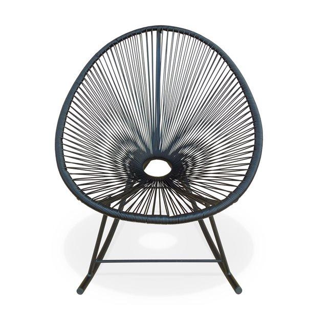 Ensemble de 2 fauteuils à bascule acapulco chaise oeuf design rétro