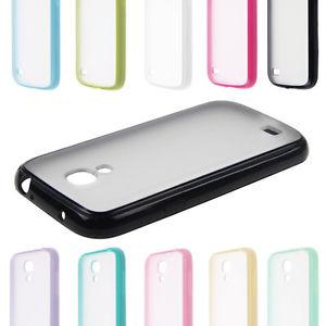 ,coque,étui,contour silicone+vitre transparente SAMSUNG GALAXY S4