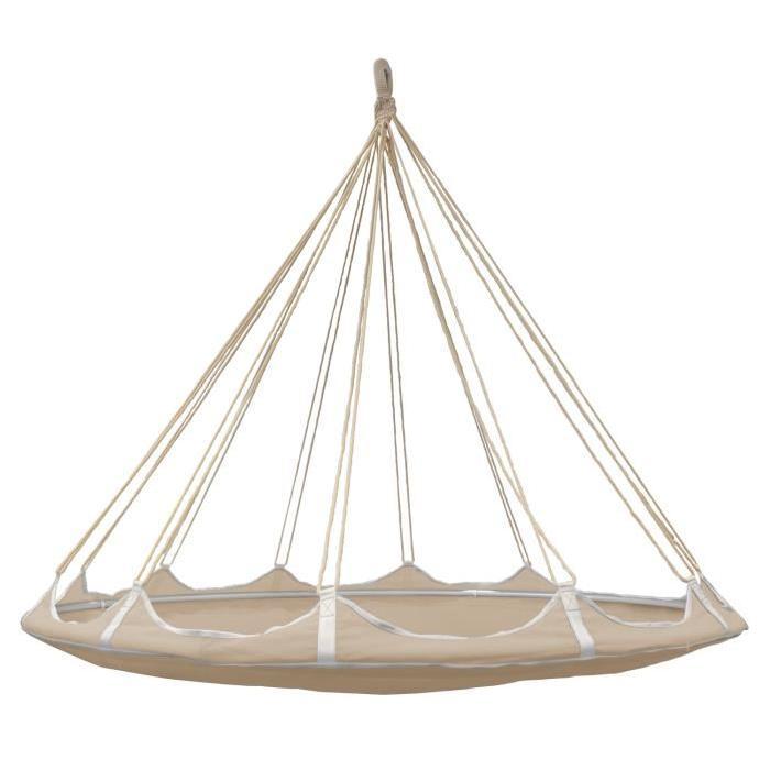 Lit hamac suspendu blanc avec moustiquaire espace de détente idéal