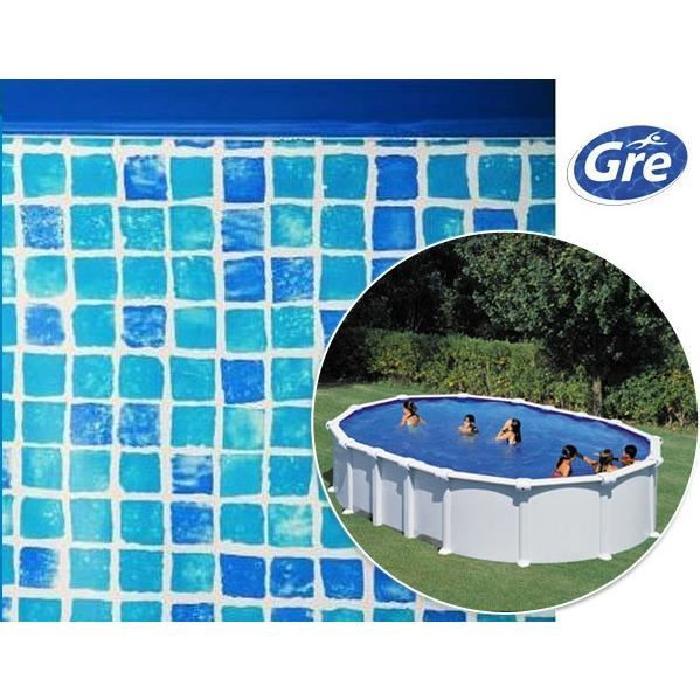 Liner imitation mosaïque pour piscine hors sol ovale de Gre Pool 8