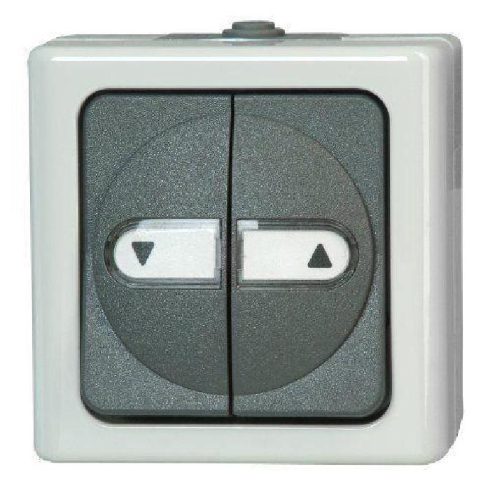 Kopp 561556004 Blue Electric Interrupteur pour volet roulant avec