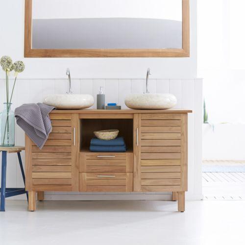 meuble salle de bains en bois pas cher