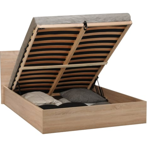 Lit coffre BARCELONA couchage 160×200 cm pas cher à prix