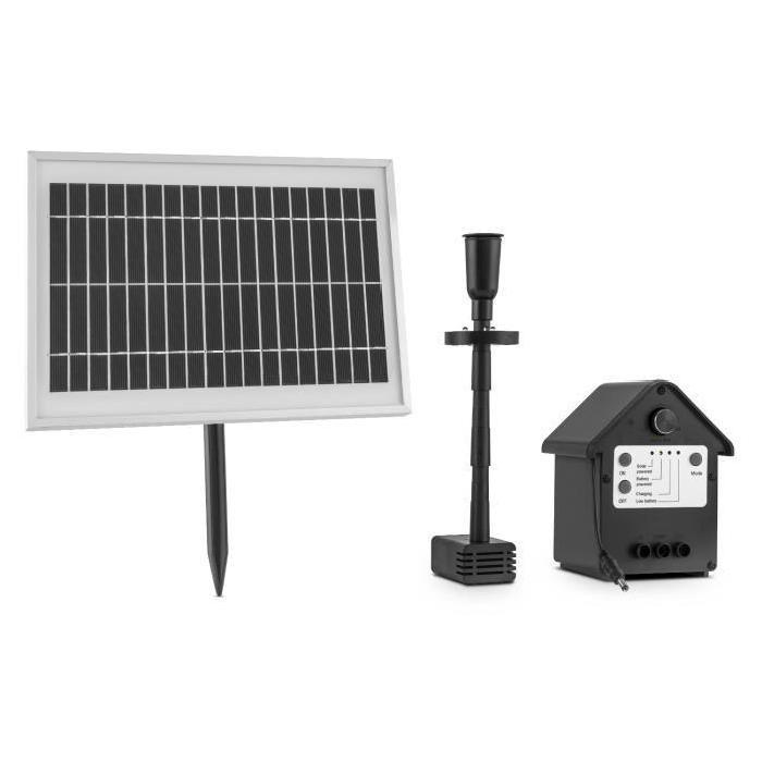 DURAMAXX fontaine solaire pompe à eau 200 l/h LED batterie Activée
