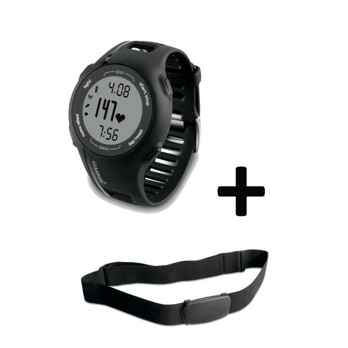 Garmin Forerunner 210 montre GPS + ceinture cardio Vitesse (moyenne