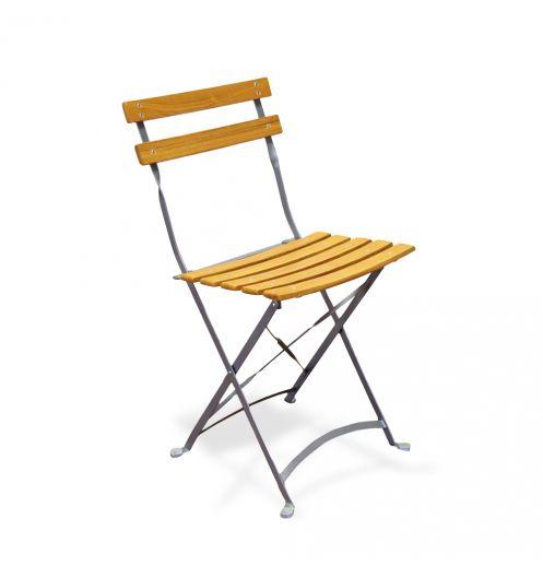 Chaise pliante de jardin en bois (x4) Deco et saveurs