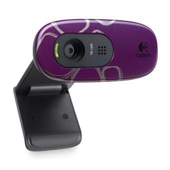 votre Logitech C270 Webcam HD Rochers Violet (Microphone intégré)