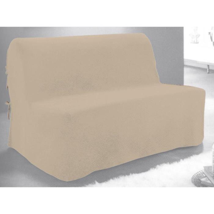 Housse de BZ en coton PANAMA beige. Achat / Vente housse de canape