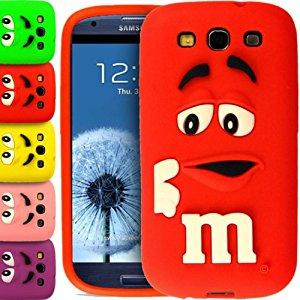 Coque en silicone pour Samsung Galaxy S3 i9300 Motif M&M's 3D
