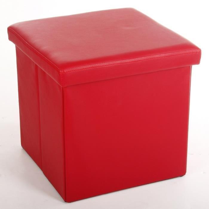 Pouf pli PVC rouge 38×38 cm Achat / Vente pouf poire Pvc, mdf
