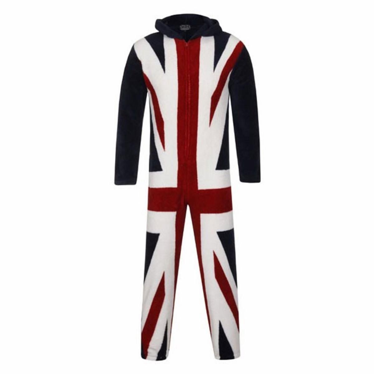 Pyjama Hommes Combinaison Grenouillère Union Jack