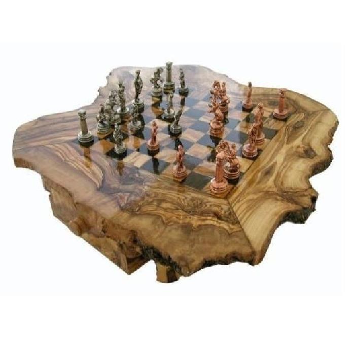 grand jeu d echecs en bois d olivier 50 cm avec pi