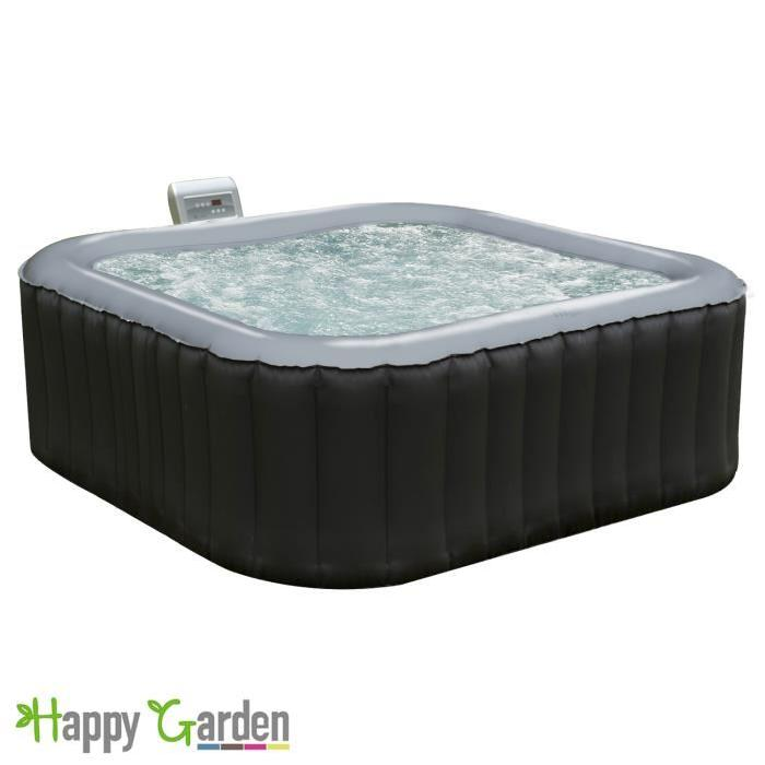 Spa gonflable carré 160cm 4 personnes Spa gonflable carré 160cm