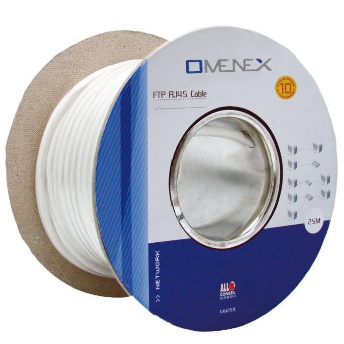 cable ethernet blinde cat5 25m bobine blanc Achat / Vente câble
