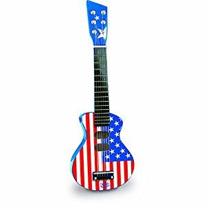 Vilac 8333 Instrument de Musique Guitare Rock Bleue USA