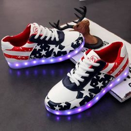 Chaussures Led Femme Homme Couple Etoile Usb Rechargeable 7 Couleurs