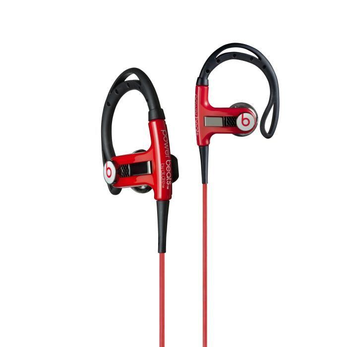 Ecouteurs intra auriculaires stéréo «Powerbeats», Rouge Clips d