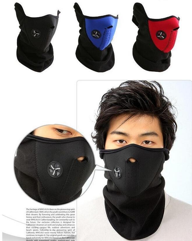 Cagoule Masque Protection Visage Tour de Cou Polaire Moto