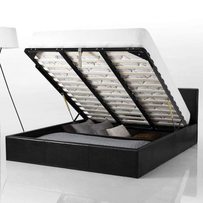 Lit coffre 160×200 cm, Smart Achat / Vente structure de lit