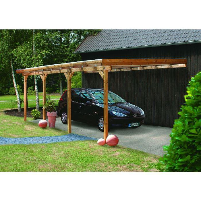 Carport bois 22.58 m2 ADAMS 2 L363xP622xH249cm Achat / Vente carport