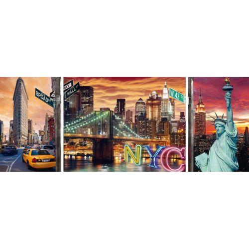 Ravensburger Puzzle 1000 pièces : Triptyque : New York en lumière