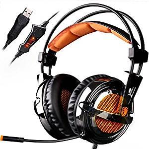 SADES A6 7.1 stéréo Surround Sound USB PC Gaming Casques bandeau