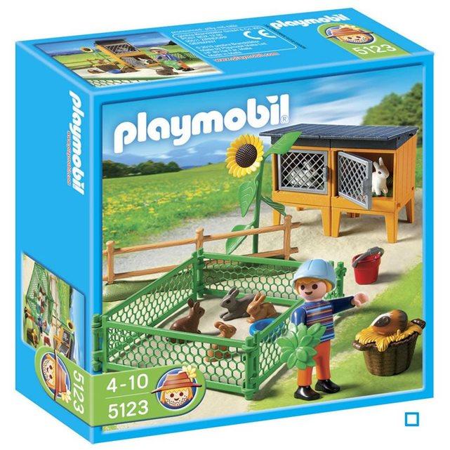 PLAYMOBIL Enclos à Lapins et Enfant PLA5123