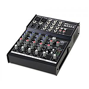 Invotone MX6FX Mixer DJ 6 canaux DSP Multi effets 2 x Mic