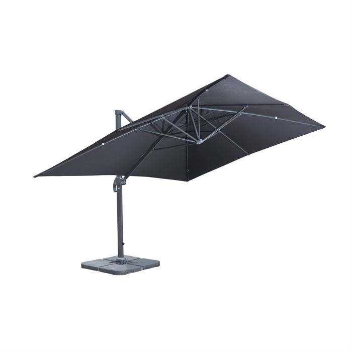 Parasol inclinable et rotatif topiwall - Parasol deporte rectangulaire excentre inclinable ...