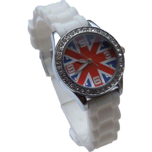 Montre Fille Femme Ado London Union Jack Drapeau Anglais