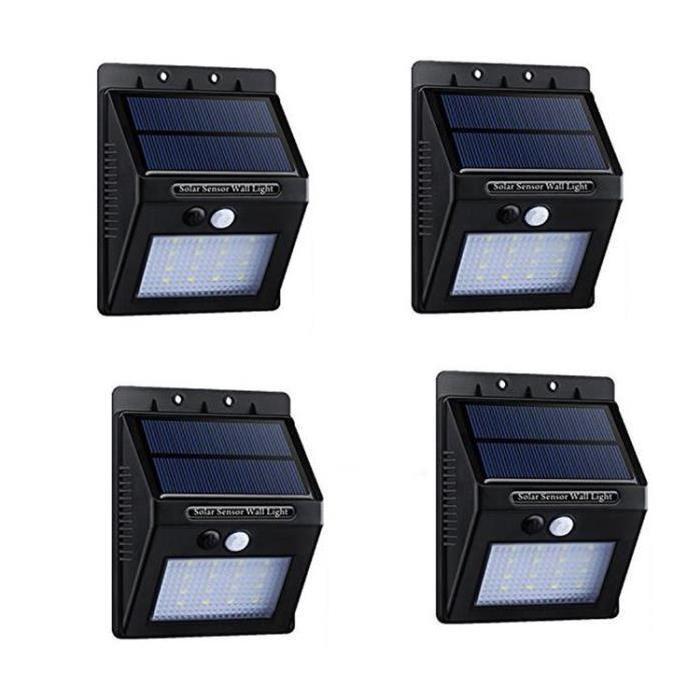 Lanterne de Jardin Achat / Vente 4 Pcs 20 LED Lampe Solaire