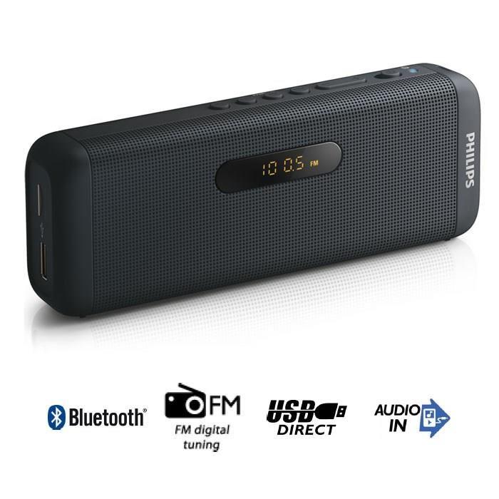 PHILIPS SD700B Enceinte bluetooth portable USB noi enceintes
