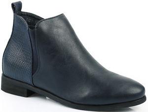DERNIERE bottines femme boots bleu marine bleues 40 AVANT