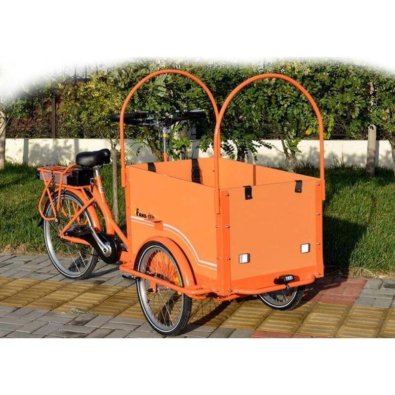 Vélo triporteur electrique transport enfant