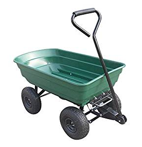 Chariot de jardin 4 roues Cuve Basculante 250 kg