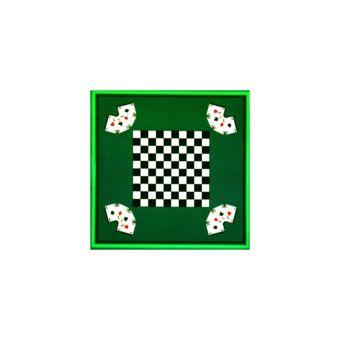 Universol Tapis Jeux De Cartes damier vert 66x66cm pas cher Achat