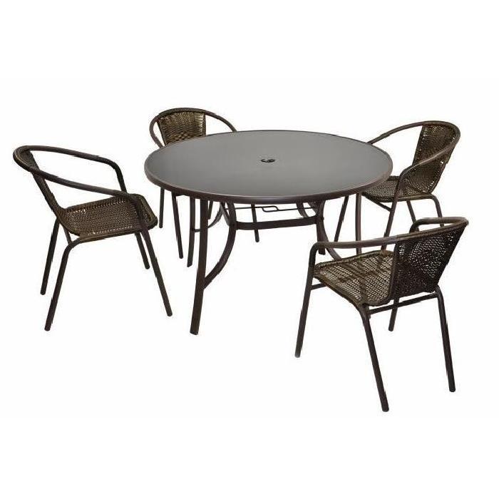 Table de jardin ronde avec chaises - TopiWall