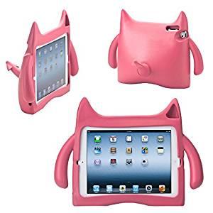 coque arrière Monstre rose en silicone pour tablette iPad 2