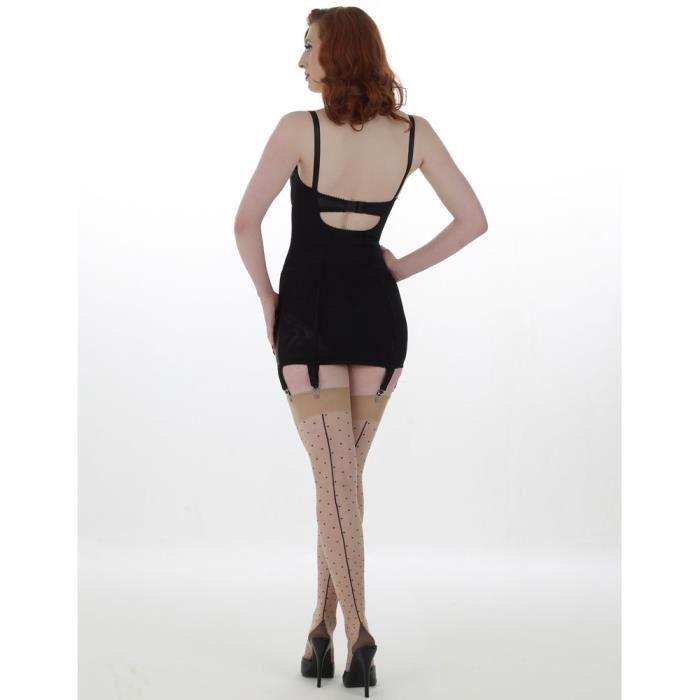 What Katie Did Dotty Bas Couture Beige / noir Achat / Vente bas