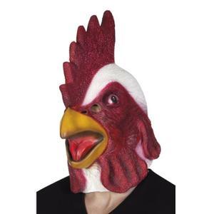 MASQUE DÉCOR VISAGE Masque Intégral en Latex Coq