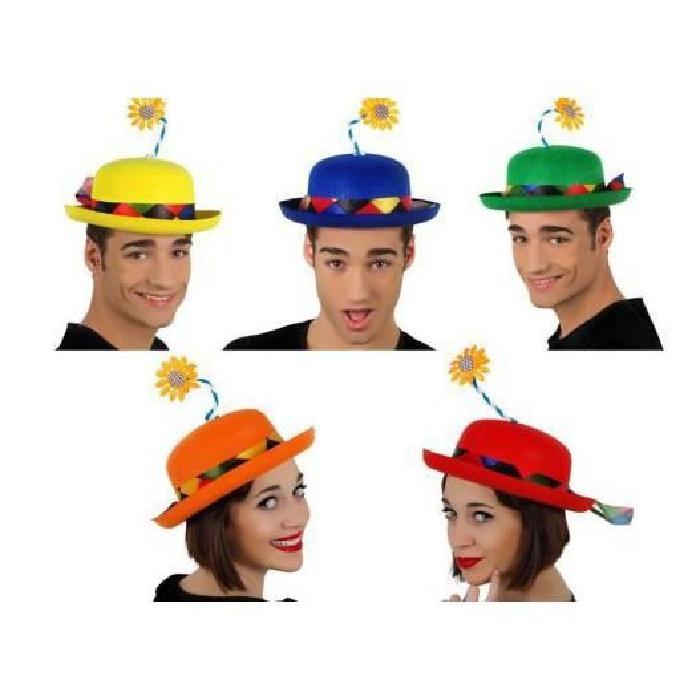 CHAPEAU DE CLOWN AVEC FLEUR Achat / Vente chapeau perruque