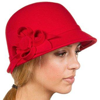 Sakkas EH0121LC Chapeau Hiver Cloche 100% Laine Femmes Style Rétro