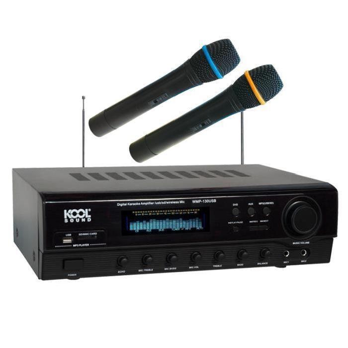 Amplificateur avec 2 Microphones WMP 130 USB microphone accessoire