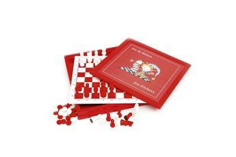 Jeux en famille Coffret dames et échecs en bois acidulé Smir