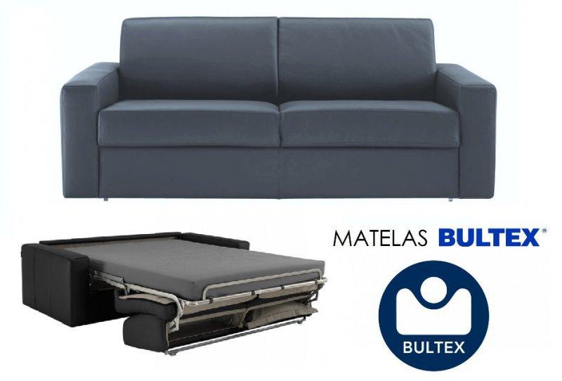 Canapé RAPIDO BULTEX DREAM Convertible 120*14*200cm microfibre gris