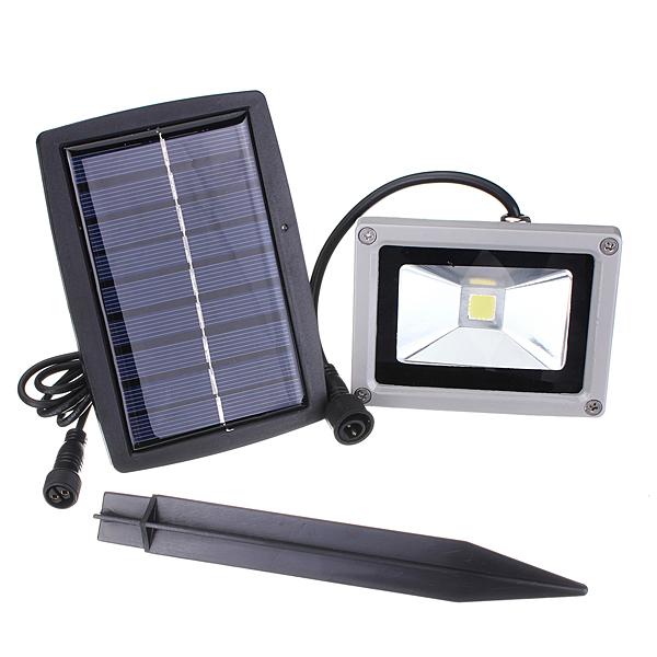 Solaire Projecteur LED 10W Lumière Ampoule Panneau Etanche Light Spot
