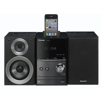 Micro Chaine HiFi Panasonic SC PM500EF avec Dock iPod, lecteur CD